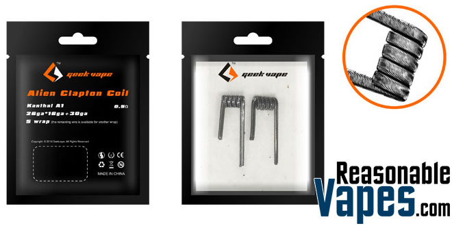Authentic GeekVape Prebuilt Alien Clapton Coils - 2 Pack