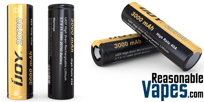 Authentic IJOY 20700 3.7V 3000mAh Batteries
